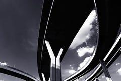 Abstrakt begrepp som är strukturellt av bron Arkivbilder
