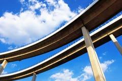 Abstrakt begrepp som är strukturellt av bron Royaltyfri Foto