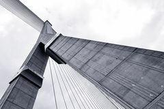 Abstrakt begrepp som är strukturellt av bron Fotografering för Bildbyråer