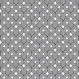 Abstrakt begrepp spolar upp, bandlinjen på cirklar, geometrisk vektormodell stock illustrationer
