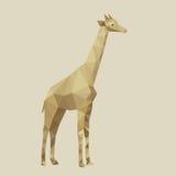 Abstrakt begrepp stiliserad giraffvektorillustration Royaltyfria Bilder