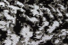Abstrakt begrepp stucken textur som för bakgrund trådar för grå vit och svart Arkivfoton