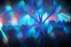 Abstrakt begrepp tänder bakgrund för nattklubbdanspartiet Royaltyfri Fotografi