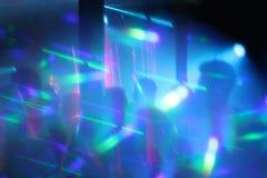 Abstrakt begrepp tänder bakgrund för nattklubbdanspartiet Royaltyfria Foton