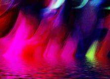 abstrakt begrepp tänder mångfärgat Royaltyfria Foton