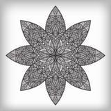 abstrakt begrepp tecknad blommahand Royaltyfri Fotografi