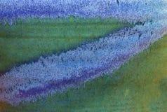 Abstrakt begrepp texturerad bakgrund i gräsplan och blått Royaltyfri Foto