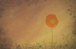 Abstrakt begrepp texturerad bakgrund med vallmon stock illustrationer