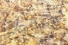 Abstrakt begrepp texturerad hand målad bakgrund med guling och brunt Fotografering för Bildbyråer