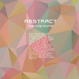 Abstrakt begrepp texturerad polygonal brokig triangelbakgrund Arkivfoto