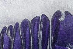 Abstrakt begrepp texturerade upp flerfärgad bakgrund - grungy metallslut Arkivbild