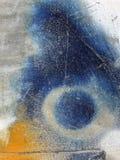 Abstrakt begrepp texturerade upp flerfärgad bakgrund - grungy metallslut Royaltyfri Foto