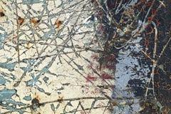 Abstrakt begrepp texturerat bakgrund-skrapat metallslut upp Royaltyfria Bilder