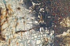 Abstrakt begrepp texturerat bakgrund-skrapat metallslut upp Royaltyfri Foto