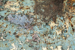 Abstrakt begrepp texturerat bakgrund-skrapat metallslut upp Royaltyfri Fotografi