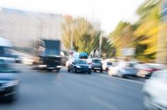 Abstrakt begrepp trängd ihop trafik Arkivfoto