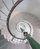 Abstrakt begrepp under spiral trappa Royaltyfri Foto