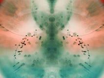 Abstrakt begrepp undervattens- färgrik sammansättning med bubblor Fotografering för Bildbyråer