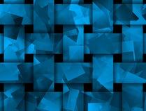 Abstrakt begrepp vävd textur i blått Royaltyfri Foto