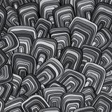 Abstrakt begrepp vektor, sömlös monokrom modell Arkivfoton