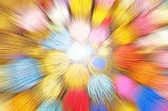 Abstrakt begrepp vinkar blur Arkivbild