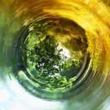 abstrakt begrepp virvlade runt bakgrund av naturen royaltyfri fotografi