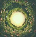 abstrakt begrepp virvlade runt bakgrund av naturen Royaltyfria Foton