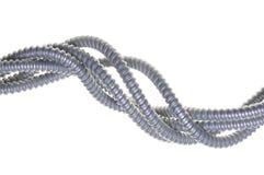 Abstrakt begrepp vridna stålrör Royaltyfri Fotografi