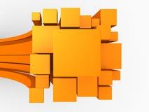 abstrakt begreppbakgrund för orange 3d Royaltyfri Fotografi