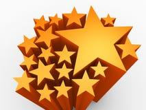 abstrakt begreppbakgrund för orange 3d Royaltyfri Illustrationer