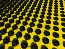 Abstrakt begreppbollar och raster för tapet eller bakgrund Fotografering för Bildbyråer