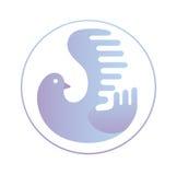 Abstrakt begreppduvarunda Logo Template stock illustrationer