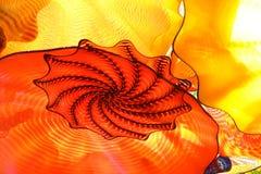Abstrakt begreppfärger av blåst exponeringsglas arkivbilder