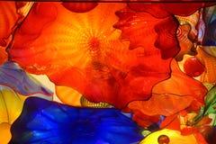 Abstrakt begreppfärger av blåst exponeringsglas royaltyfri fotografi