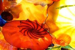 Abstrakt begreppfärger av blåst exponeringsglas arkivfoto