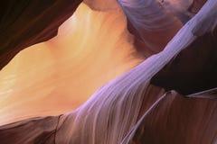Abstrakt begreppfärger: Kanjonpersikan/purpurfärgad pastell vaggar Arkivbilder