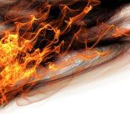 Abstrakt begreppflammor av brandbakgrund Royaltyfri Foto