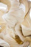Abstrakt begreppformer av ett pappers- dekorativt objekt, som en skulptur Royaltyfria Foton