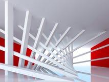 Abstrakt begreppinterior med vippade på kolonner Arkivbilder