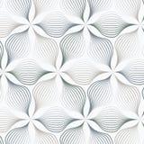 Abstrakt begreppsidor eller blomma eller flora i olikt format av linjer i varje objekt på sexhörningsform Ren design för tyg, tap Royaltyfri Fotografi