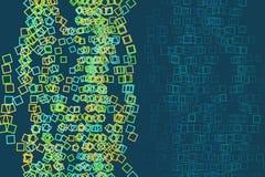 Abstrakt begreppsmässig fyrkant, rektangelmodell Geometriskt, idérikt, kanfas & repetition royaltyfri illustrationer