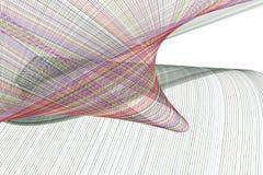Abstrakt begreppsmässig geometrisk linje & kurvmodell Garnering, runda, bakgrund & illustration vektor illustrationer