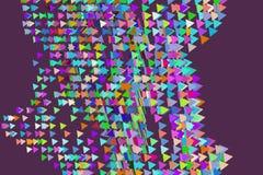 Abstrakt begreppsmässig triangelmodell Geometriskt, dra, tapet & design vektor illustrationer
