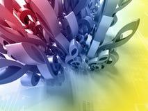 abstrakt begreppsmusik Arkivbild
