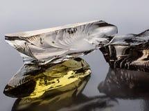 Abstrakt begreppstycken av kulört exponeringsglas Royaltyfri Bild