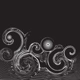 abstrakt begreppswirlswave Royaltyfri Bild