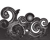 abstrakt begreppswirlswave Arkivfoto