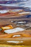 Abstrakt begrepptexturer av porslinhandfatet i den Yellowstone nationalparken, USA Arkivfoto