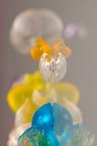 Abstrakt begrepptexturer och modeller av brutna gelébollar Fotografering för Bildbyråer