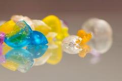 Abstrakt begrepptexturer och modeller av brutna gelébollar Royaltyfria Foton